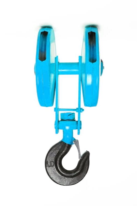Крюковая подвеска двухблочная для талей  электрических CD1 12,5 т