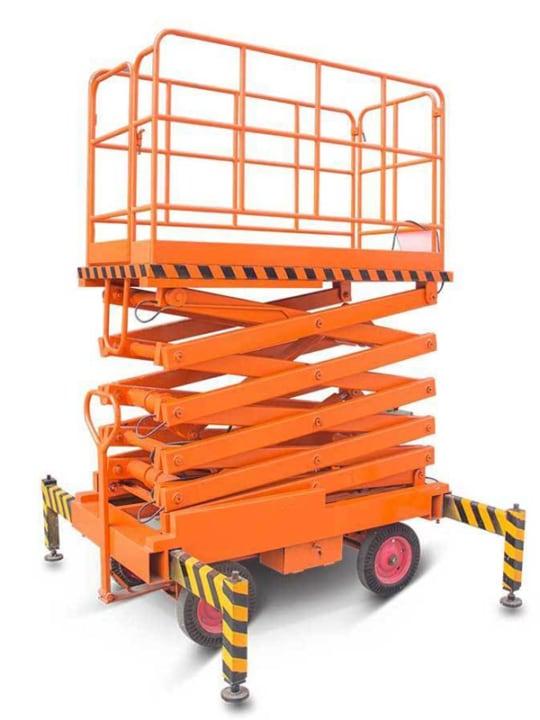 Подъемник ножничный передвижной TOR SJY 500  кг 12 м (от сети) (N)