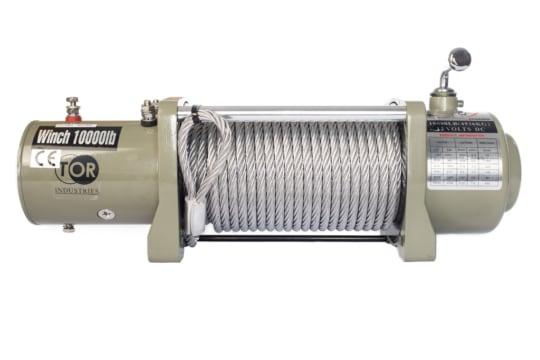 Лебедка автомобильная TOR ЛА S10000 г/п 4536 кг  28 м 12V