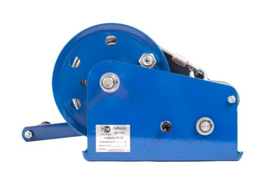 Лебедка ручная TOR ЛБ-2600 (BHW) г/п 1,0 т, длина  троса 20 м