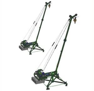 Кран стреловой поворотный «МАСТЕР-3» 1000  кг 50 м с противовесами и колесами