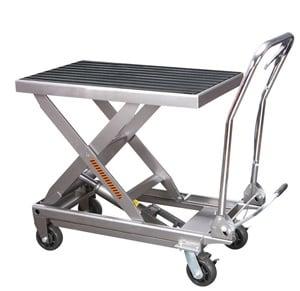 Стол подъемный передвижной 300 кг 330-1240 мм  TOR BS30S (нержавеющая сталь)