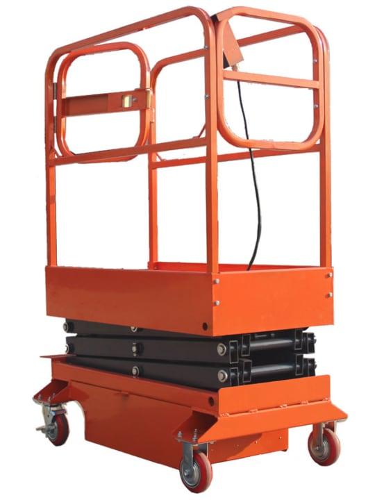Подъемник ножничный передвижной полуэлектрический  320 кг 12 м TOR GTJY (от сети)