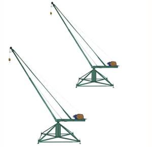 Кран стреловой поворотный «МАСТЕР» 500 кг  100 м без противовесов