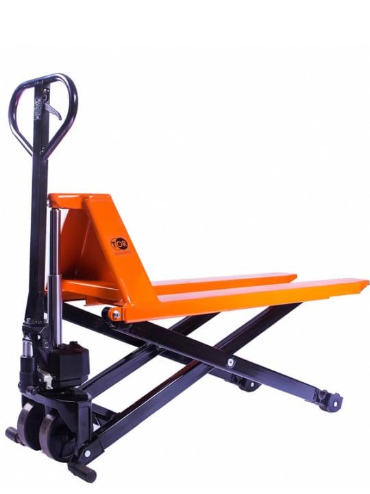 Тележка гидравлическая 1000 кг 1150 мм TOR JF  с ножничным подъемом (полиуретановые колеса)