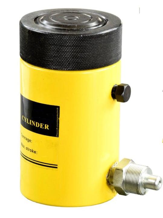 Домкрат гидравлический TOR HHYG-150100LS (ДГ150П100Г),  150т с фиксирующей гайкой