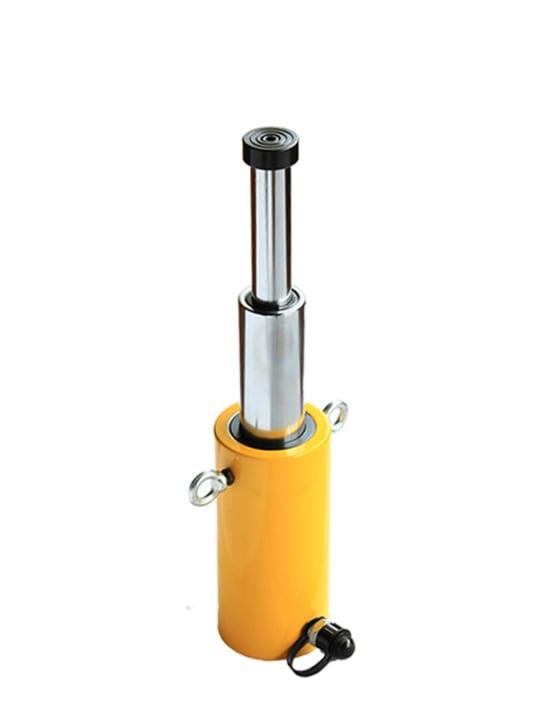 Домкрат гидравлический телескопический  TOR HHYG-50600D (ДТ50Г600) 50 т, 3ур