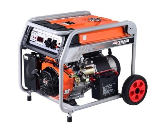 Генератор бензиновый TOR KM8000H 6,0кВт 220В 27л  с кнопкой запуска и колесами