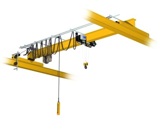 Кран мостовой однобалочный опорный однопролётный  г/п 1 т пролет 16,5 м