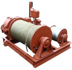 Лебедка маневровая электрическая ЛЭМ-20  г/п 1200 кг H-380/740 м (без каната)